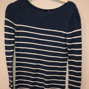 Gap Blue with White Stripe Sweater